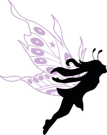 Fairy Vector Silhouette Illustration Illustration