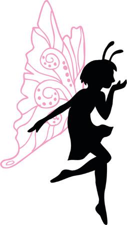Fairy Vector Silhouette Illustration Illustration