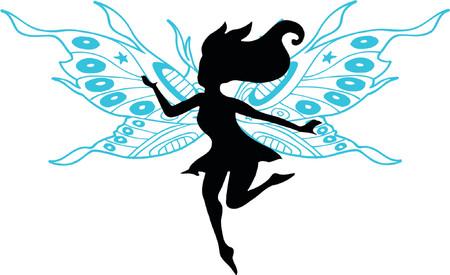 Fairy Vector Silhouette Illustration Ilustração