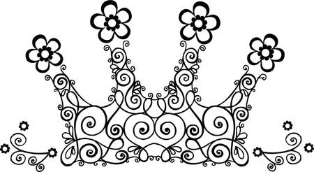 diadem: Vine Crown Vector Illustration