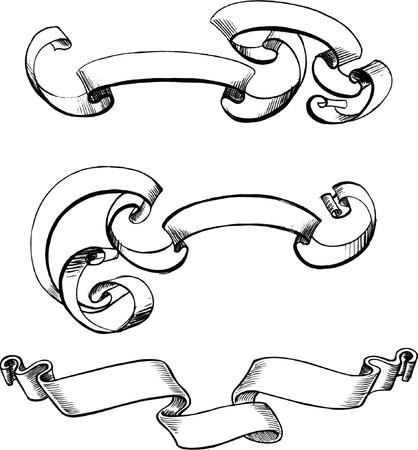 crests: Scorre illustrazione vettoriale  Vettoriali