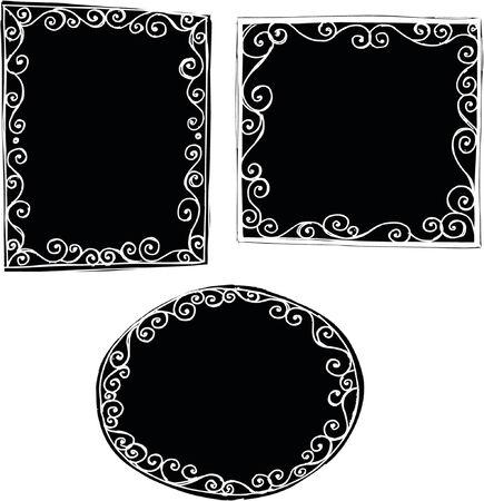 Solid Frames Vector Illustration Vector