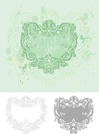Green Vector Grunge Frame Vector