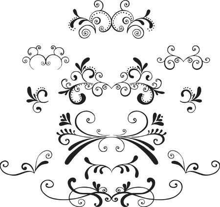 Ornamental Vector Illustration Design Elements Vector
