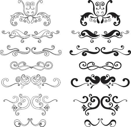 Ornamental Vector Illustration Design Elements Stok Fotoğraf - 922143