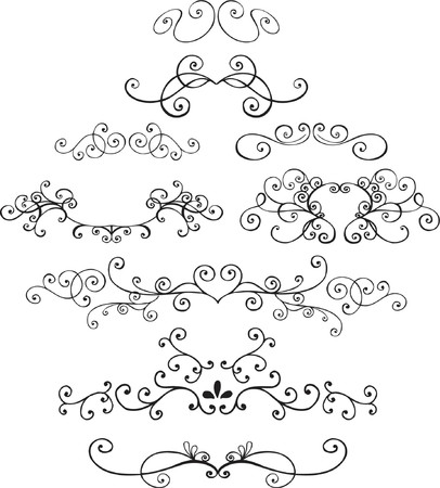 embellishments: Ornamental Vector Illustration Design Elements