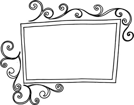 Swirly Frame Vector Illustration Illustration