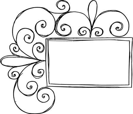 frame vector: Swirly Frame Vector Illustration Illustration