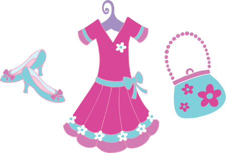 Dress Up & Accessories Vector Illustration