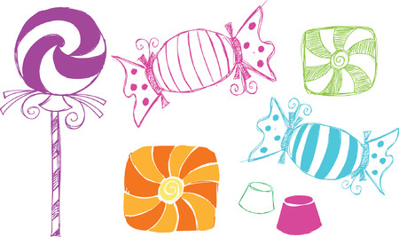 paletas de caramelo: Candy vaga estilo ilustraci�n vectorial