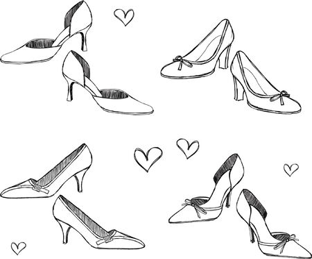 Shoes Sketchy Style Vector Illustration 일러스트