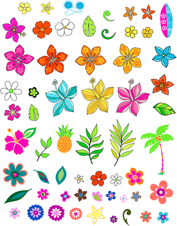 Flower set Vector Illustration