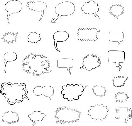 Tekstballon set Vector Illustratie Stock Illustratie