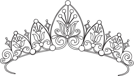 corona de princesa: Royal Crown Princess ilustraci�n vectorial