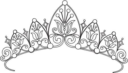 Royal Crown Princess Vector Illustration Ilustração