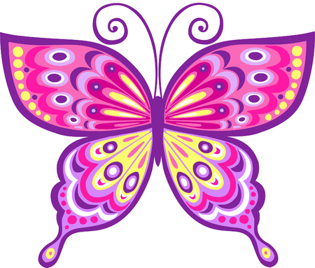 Pink Butterfly Vector Illustration Фото со стока - 3281177
