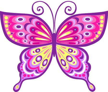 Pink Butterfly Vector Illustration Reklamní fotografie - 3281177