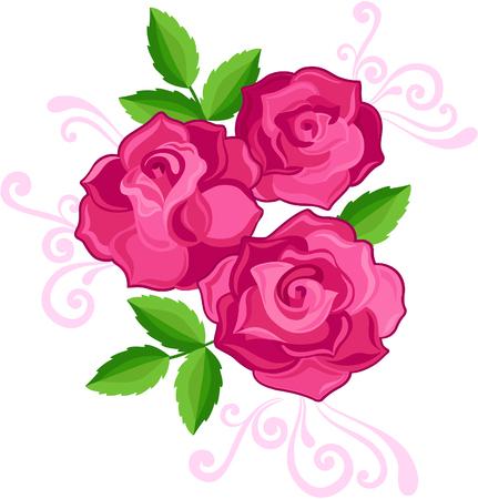 Rozen Vector illustratie Stock Illustratie