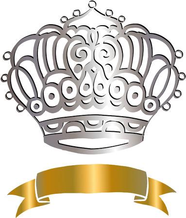 diadema: Corona y vaya ilustraci�n vectorial