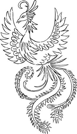 Phoenix Vector Illustration Stock Vector - 3281184