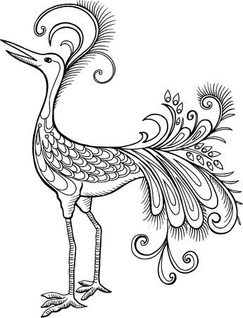 Mythological Bird Vector Illustration Иллюстрация