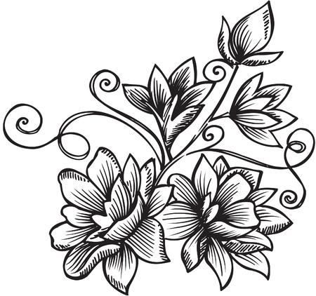 intricate: Ornamental Floral Bouquet Vector Illustration