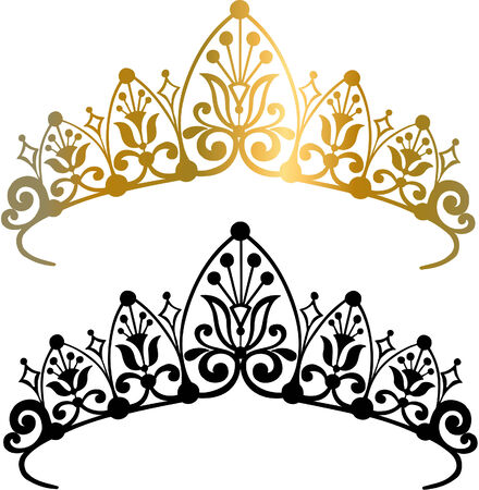 crowns: Tiara Vector Illustration