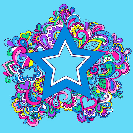 Psychedelic Star Vector Illustration Stock Vector - 3355721
