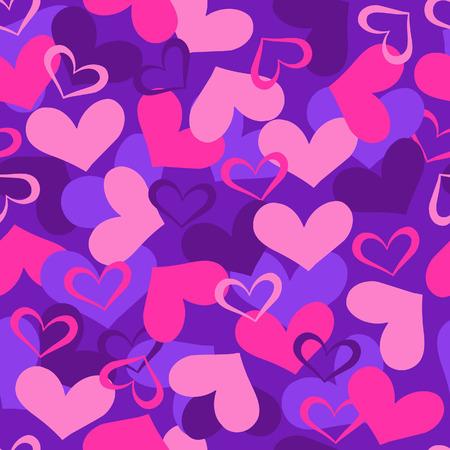 Hearts Valentine Seamless Repeat Pattern Vector Illustration Vector