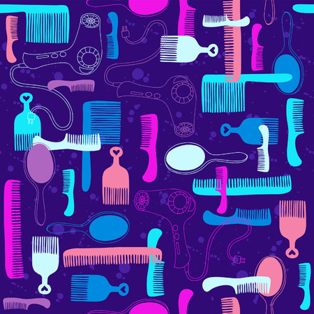 Brushes Seamless Repeat Pattern Vector Illustration