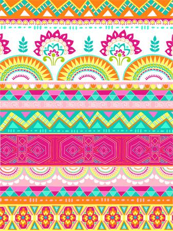 Mixed Folkloric Design Vector Illustration Vector