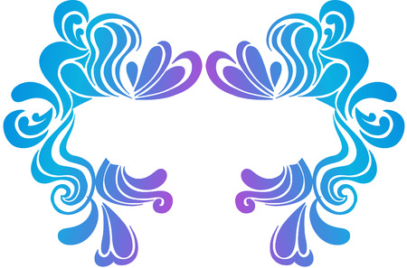 Psychedelic Swirls Border Crest Vector Illustration