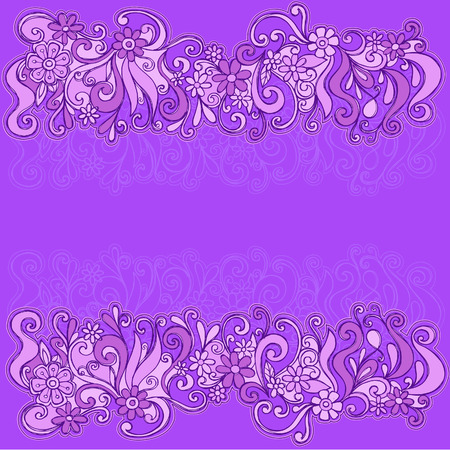 Sketchy Floral Border Vector Illustration Stock Vector - 3683060