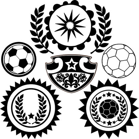 Soccer Sports Crests Vector Illustration Ilustracja