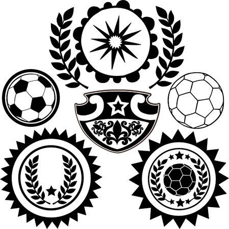 Voetbal Sport toppen Vector Illustratie