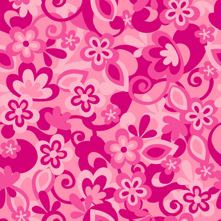Floral Camo Seamless Repeat Pattern Vector Illustration