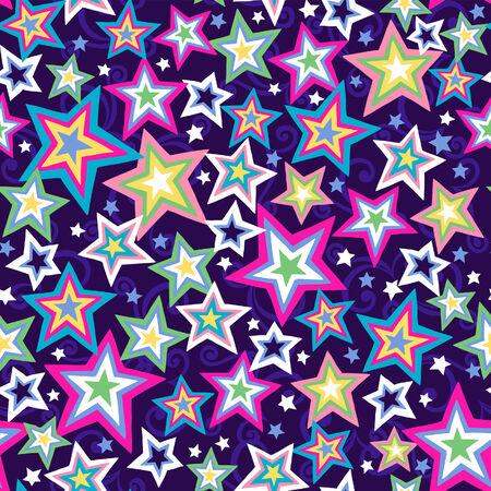 patterns vector: Stars Seamless Repeat Pattern Vector Illustration