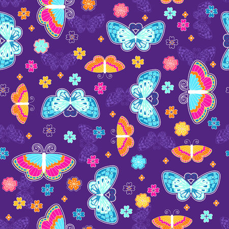 Butterfly Seamless Repeat Pattern Vector Illustration Vector