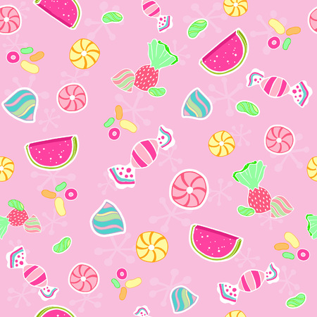 Candy Seamless Repeat Pattern Vector Illustration