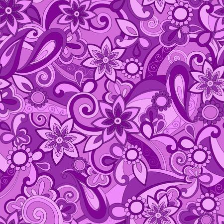 ファンキーな紫プッチ シームレスな繰り返しパターン ベクトル  イラスト・ベクター素材