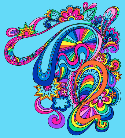 Psychedelic Abstract Vector Illustration Illustration
