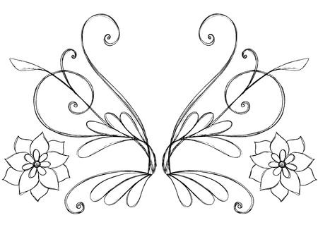 Sketchy Doodle Scroll Border Vector Stock Vector - 5119391