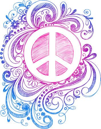 symbol peace: Signo de la paz y de los remolinos