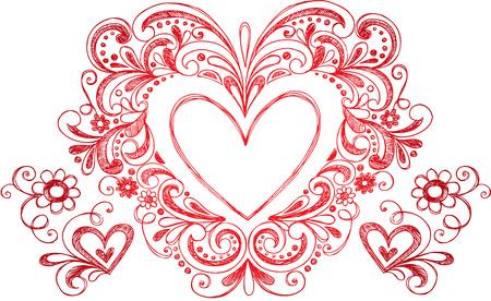 Heart Love Border Frame  Vectores