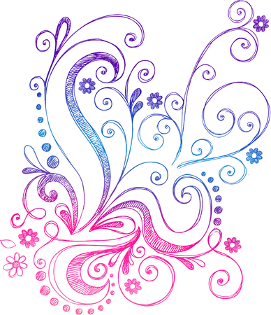 Swirly Abstract Vines  Vector