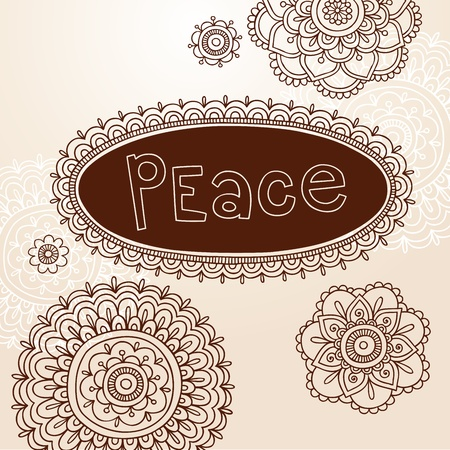 Henna Frame and Mehndi Flower Tattoo Mandala Design Elements Vector Illustration