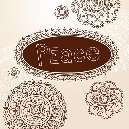 Henna Frame and Mehndi Flower Tattoo Mandala Design Elements Vector Illustration Stock Vector - 12411860