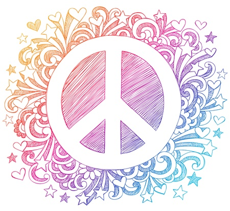 symbole de la paix: Signe de paix � Sketchy Illustration