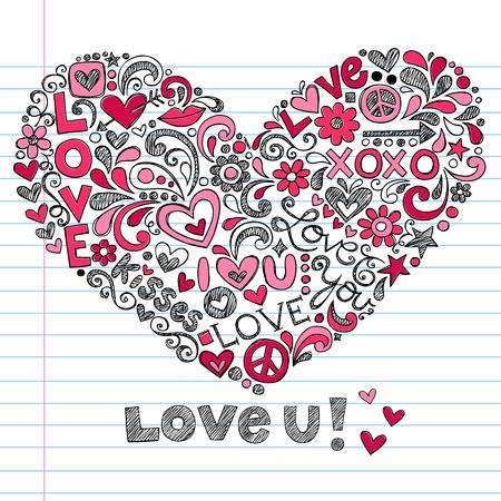 february 14th: Heart Love  Illustration