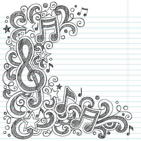 note paper: Music Notes G Clef